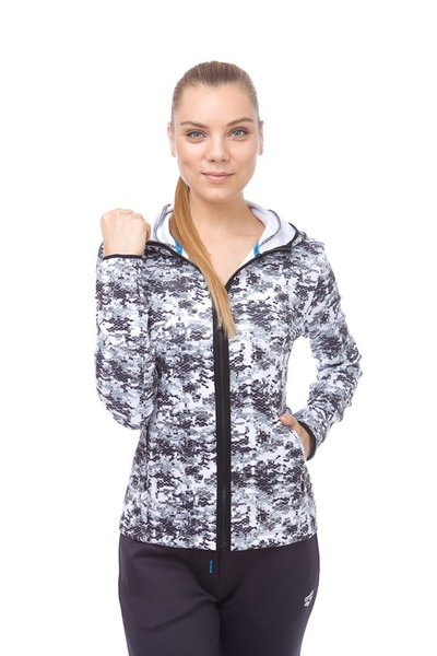ARENA GYM HOODED SPACER F/Z JACKET W (001210)