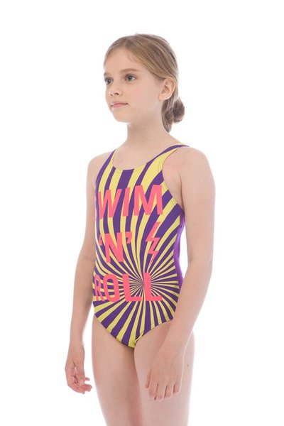ARENA SWIM ROLL JR ONE PIECE V BACK (001314)