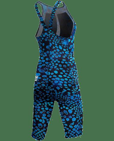 Гидрокостюм TYR Avictor Venom Open Back Swimsuit (011 Черный/Голубой)