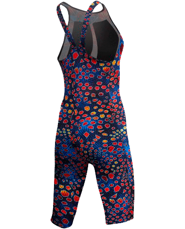 Гидрокостюм TYR Avictor Venom Open Back Swimsuit (004 Черный/Мульти)