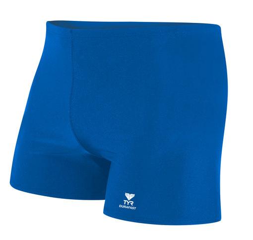 Шорты плавательные TYR Durafast Elite Solid Square Leg (428 Голубой)