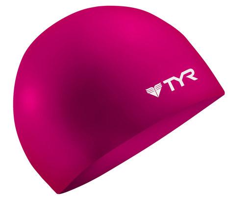 Шапочка плавательная TYR Wrinkle Free Junior Silicone Cap (693 Розовый)