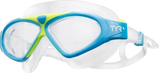 Маска для плавания TYR Magna Swim Mask (465 Голубой/Желтый)