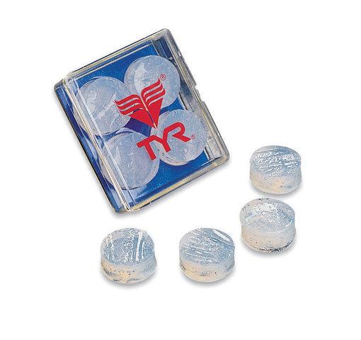 Беруши для бассейна TYR Soft Silicone Ear Plugs (101 Прозрачный)