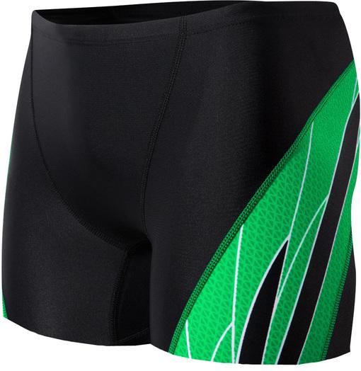 Шорты плавательные TYR Phoenix Splice Square Leg (014 Черный/Зеленый)