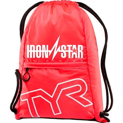 Рюкзак-мешок TYR Drawstring Backpack IRONSTAR (610 Красный)