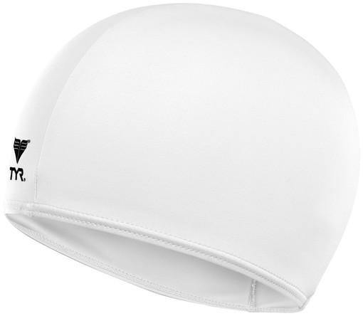 Шапочка для плавания TYR Solid Lycra Cap (100 Белый)
