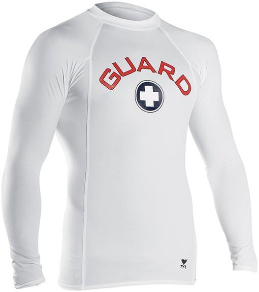Футболка с длинным рукавом TYR Men's Guard Element Shirt (100 Белый)