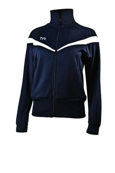 Куртка спортивная TYR Women'S Freestyle Warm-Up Jacket (001 Черный)