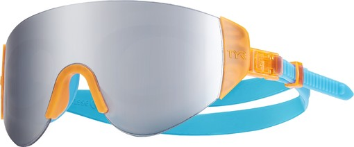 Очки для плавания TYR Renegade Swimshades Mirrored (806 Серебристый/Ораньжевый/Голубой)