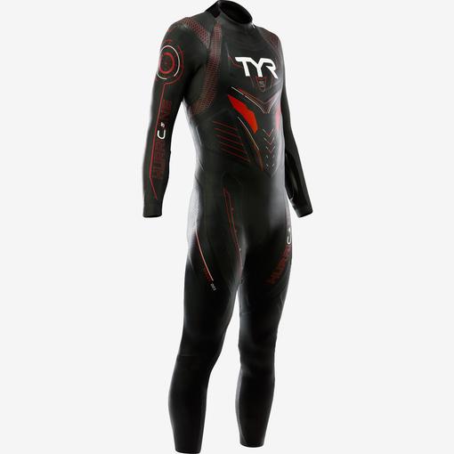 Гидрокостюм TYR Wetsuit Male Hurricane Cat 5 (002 Черный/Красный)