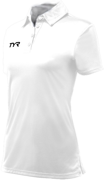 Поло TYR Alliance Coaches Female Polo (100 Белый)