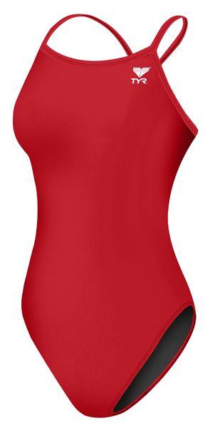 Купальник слитный  TYR Female Diamondfit (610 Красный)
