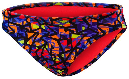 Плавки  TYR Costa Mesa Classic Bikini Bottom (808 Оранжевый/Фиолетовый)