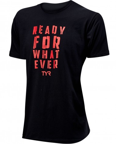Футболка TYR Men's  Ready For Whatever Graphic Tee (001 Черный)
