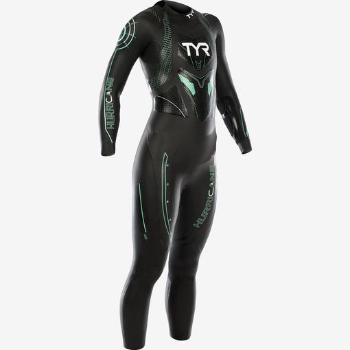 Гидрокостюм TYR Wetsuit Female Hurricane Cat 3 (704 Черный/Бирюзовый)