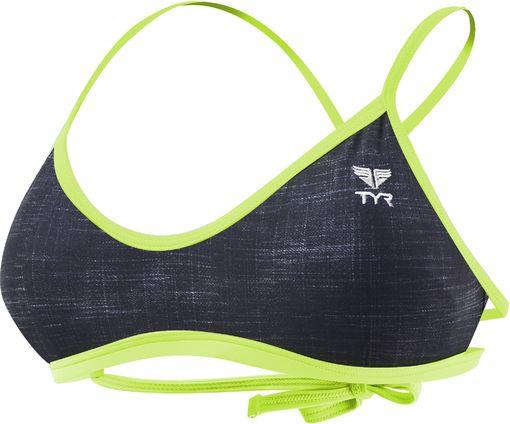Топ купальника TYR Sandblasted Mojave Tieback Top (001 Черный)