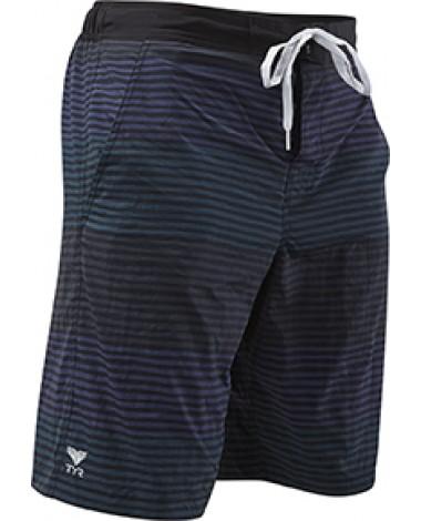 Шорты TYR Men's Jetty Stripe Apollo Swim Short (273 Зеленый/Серый/Синий)