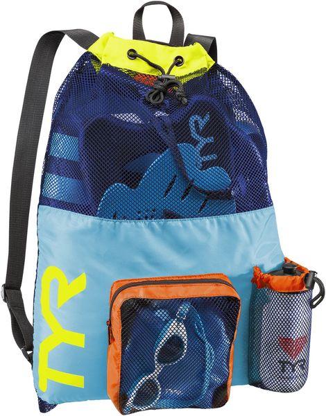 Рюкзак для аксессуаров TYR Big Mesh Mummy Backpack (465 Голубой/Желтый)