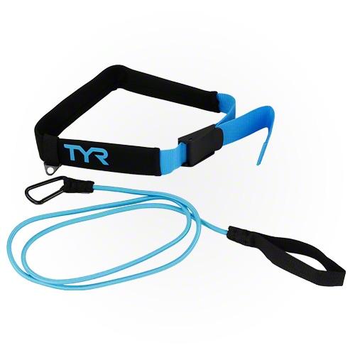 Тренажер TYR Aquatic Resistance Belt (011 Черный/Голубой)
