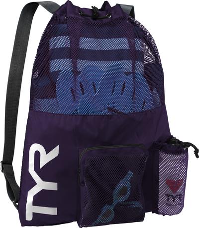 Рюкзак для аксессуаров TYR Big Mesh Mummy Backpack (510 Фиолетовый)