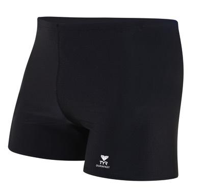 Шорты TYR Durafast Elite Solid Square Leg (001 Черный)