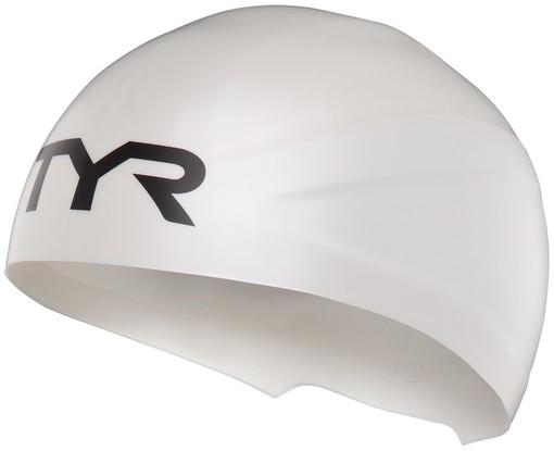 Шапочка плавательная TYR Wall-Breaker Silicone Race Cap (100 Белый)