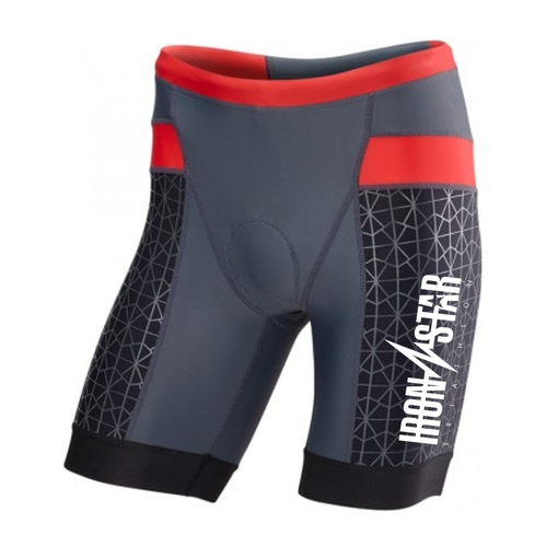 "Шорты TYR Men'S Competitor 9"" Tri Short IRONSTAR (051 Серый/Красный)"