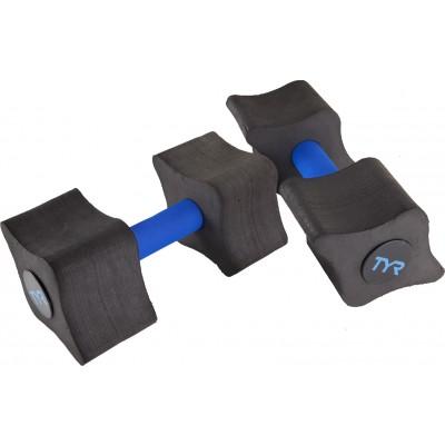 Аквагантели TYR Aquatic Resistance Dumbells (011 Черный/Голубой)