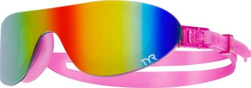 Очки для плавания TYR Swim Shades Mirrored (973 Радужный/Розовый)