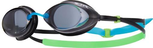 Очки для плавания TYR Tracer Junior Racing (156 Дымчатый/Зеленый/Голубой)