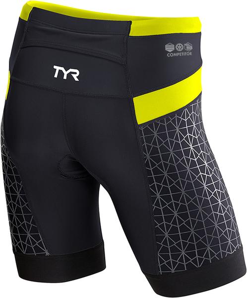 "Шорты  TYR Men's 9"" Competitor Tri Short (051 Серый/Красный)"