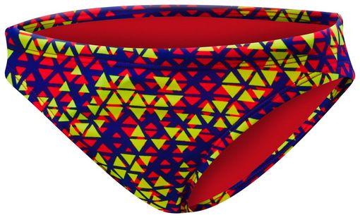 Плавки  TYR Modena Mini Bikini Bottom (638 Красный/Желтый)