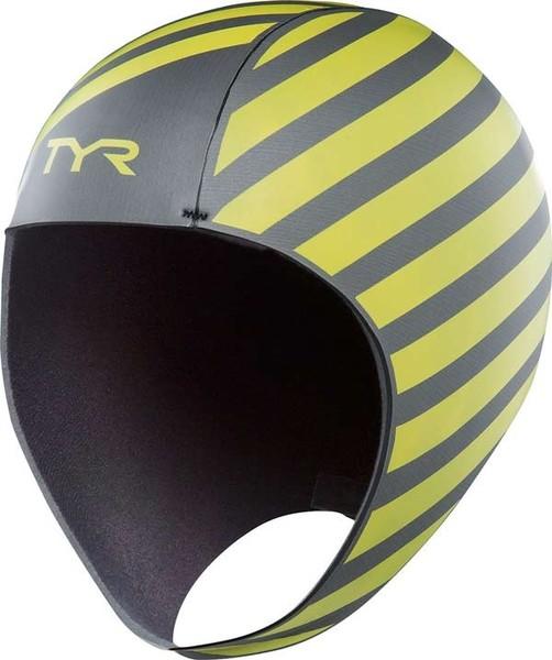 Шапочка для плавания TYR Hi-Vis Neoprene Swim Cap (730 Светло-желтый)