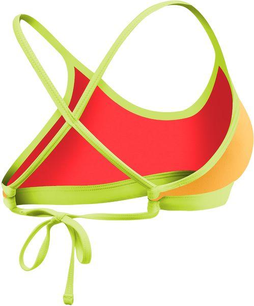 Топ купальника TYR Solid Crosscutfit Tie Back Top (556 Светло-оранжевый/Желтый)