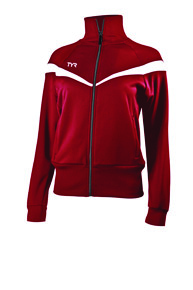 Куртка спортивная TYR Women'S Freestyle Warm-Up Jacket (610 Красный)