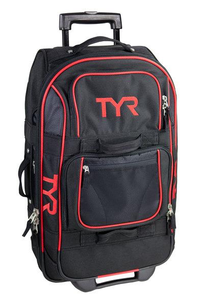 Сумка на колесах маленькая TYR Carry-On Wheel Luggage (002 Черный/Красный)