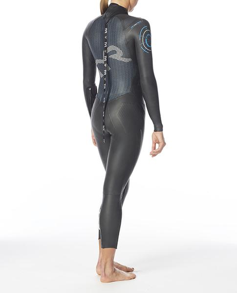 Гидрокостюм TYR Wetsuit Female Hurricane Cat 5 (093 Черный/Голубой)