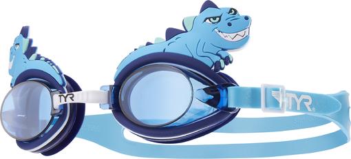 Очки для плавания детский TYR Charactyrs Dino Destroyer (420 Голубой/Голубой/Голубой)