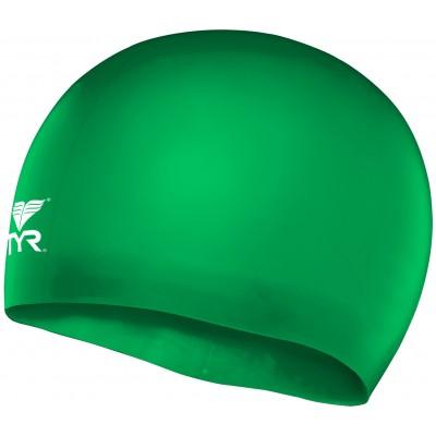 Шапочка плавательная TYR Wrinkle Free Junior Silicone Cap (326 Зеленый)