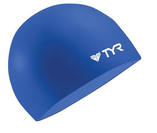 Шапочка плавательная TYR Wrinkle Free Silicone Cap (401 Синий)