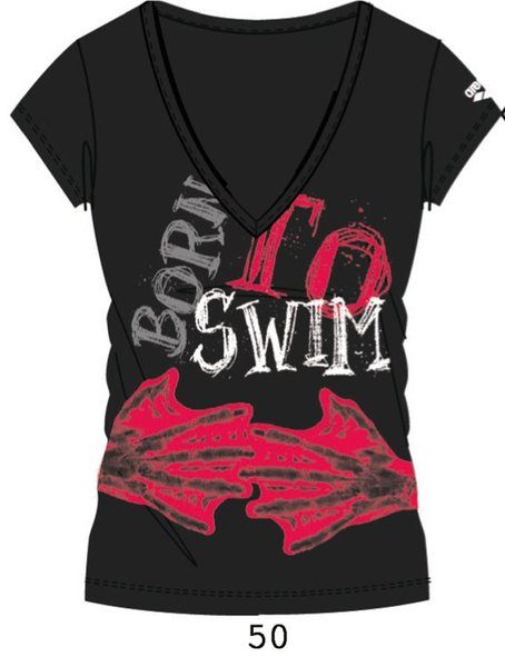 ARENA Футболка Born to swim woman t-shirt (38578)