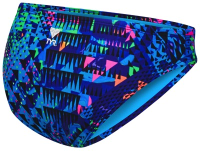 Плавки TYR Machu Bikini Bottom (461 Голубой/Мульти)