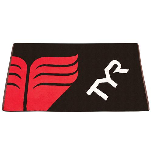 Полотенце хлопковое TYR Towel (002 Черный/Красный)