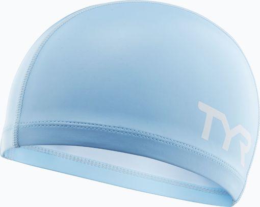 Шапочка для плавания TYR Silicone Comfort Swim Cap Junior (450 Светло-голубой)