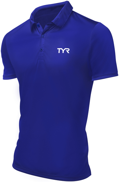 Поло TYR Men'S Alliance Victory Polo (428 Голубой)
