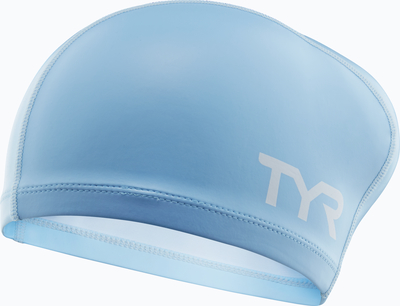 Шапочка для плавания TYR Long Hair Silicone Comfort Swim Cap (450 Голубой)