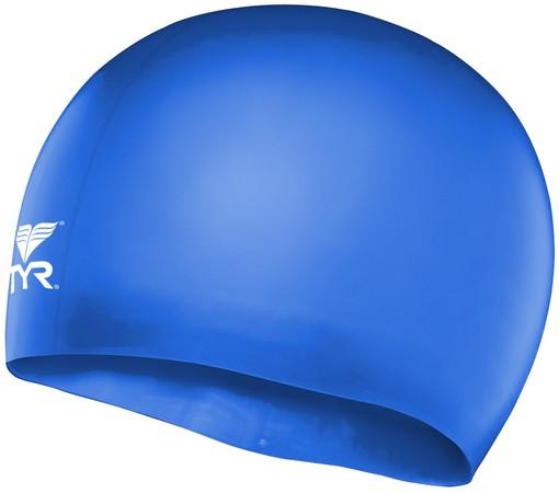 Шапочка плавательная TYR Wrinkle Free Junior Silicone Cap (428 Голубой)
