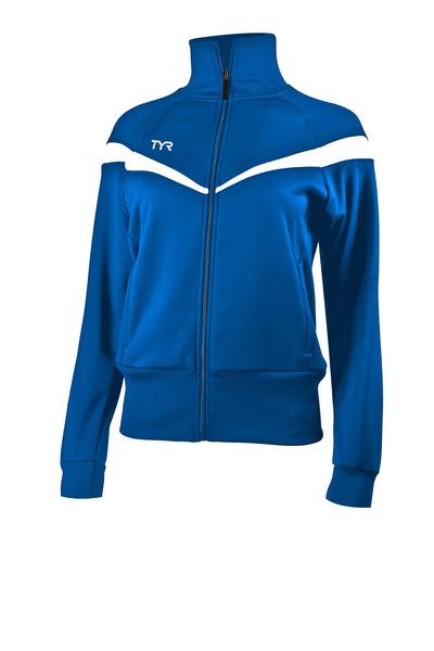 Куртка спортивная TYR Women'S Freestyle Warm-Up Jacket (473 Голубой/Белый)