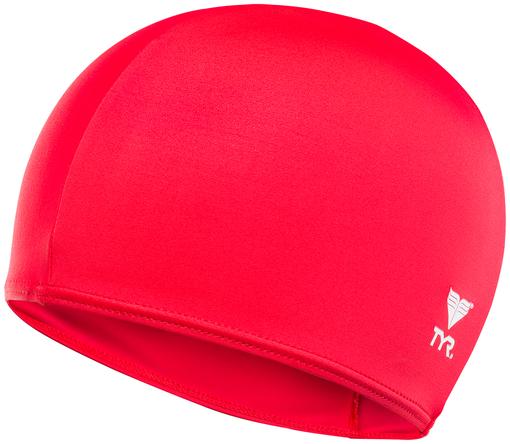 Шапочка для плавания TYR Solid Lycra Cap (610 Красный)